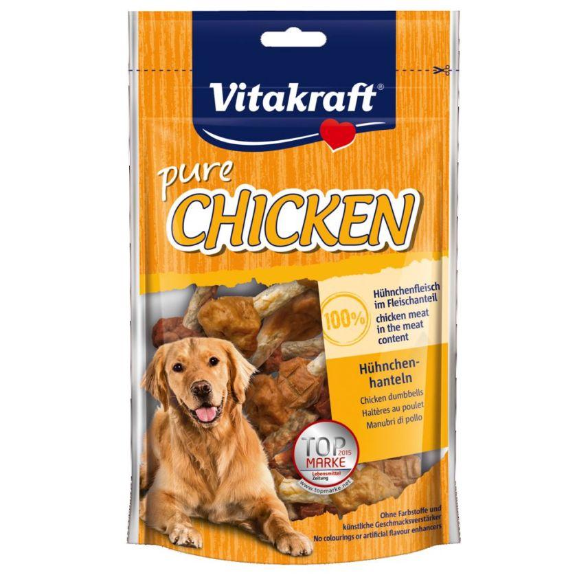 3x80g CHICKEN Haltères au poulet Vitakraft - Friandises pour Chien