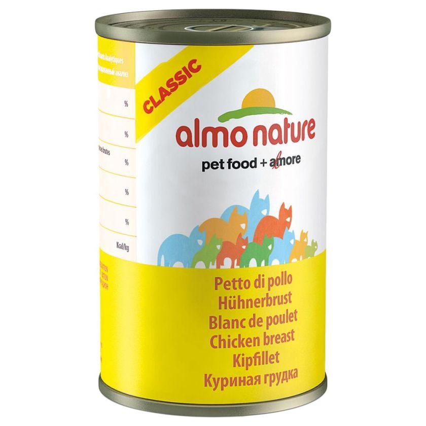 Almo Nature Classic 6 x 140 g pour chat - thon de l´Atlantique