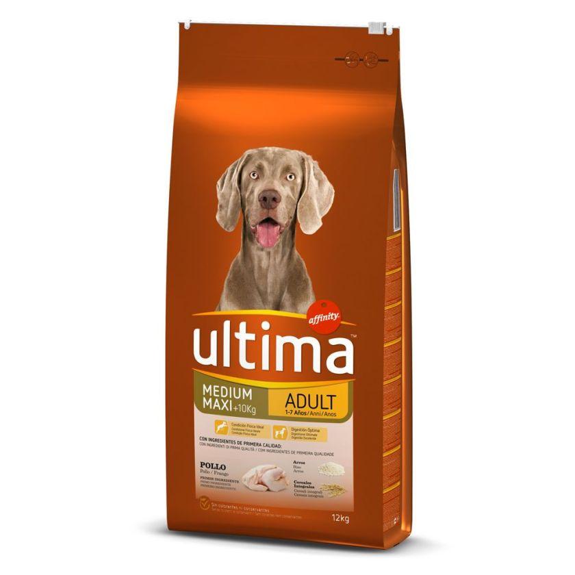18kg Medium / Maxi Adult poulet, riz Ultima - Croquettes pour chien