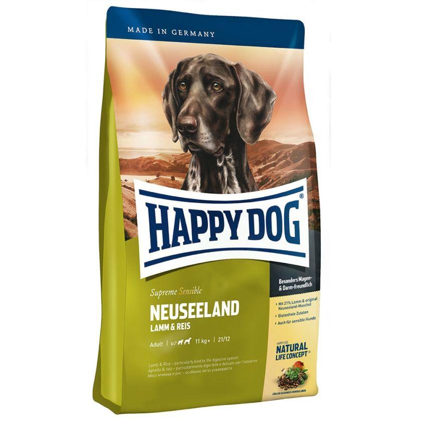 1kg Nouvelle-Zélande agneau riz Supreme Sensible Happy Dog - Croquettes pour Chien