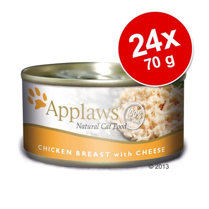 Lot Applaws 24 x 70 g pour chat - filet de thon & varech