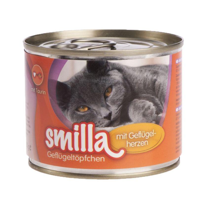 6x200g volaille, cœurs de volaille Smilla - Nourriture pour Chat