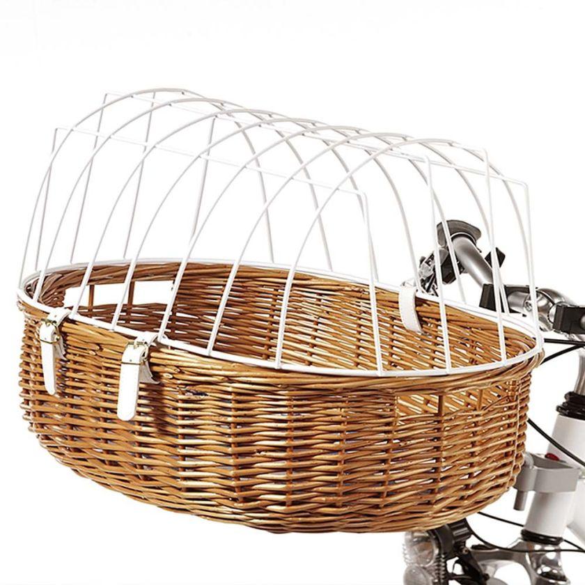 Panier de transport pour vélo avec grille de protection - maxi : L 70 x l 46 x H 40 cm