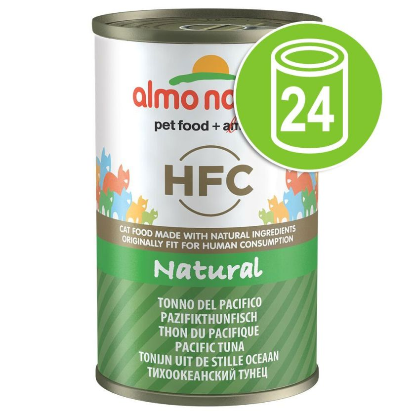 24x140gthon, poulet, jambon Almo Nature HFC pour chat - Nourriture pour chat