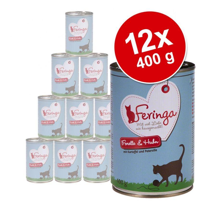 Lot Feringa Menus Duo 12 x 400 g pour chat - volaille