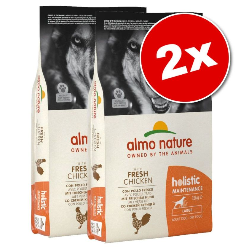 2x12kg Adult Medium poulet, riz Almo Nature pour chien - Croquettes pour chien