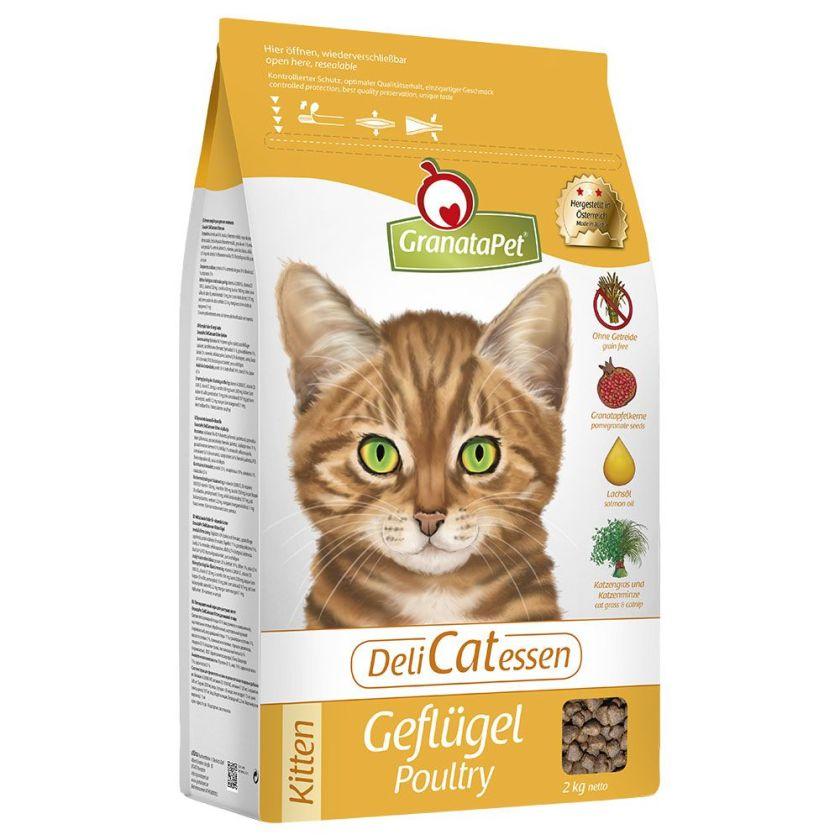 10kg Delicatessen Kitten volaille Granatapet - Croquettes pour Chat