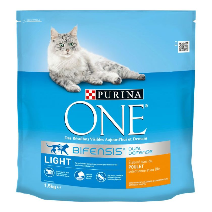 4x1,5kg Light PURINA ONE - Croquettes pour chat