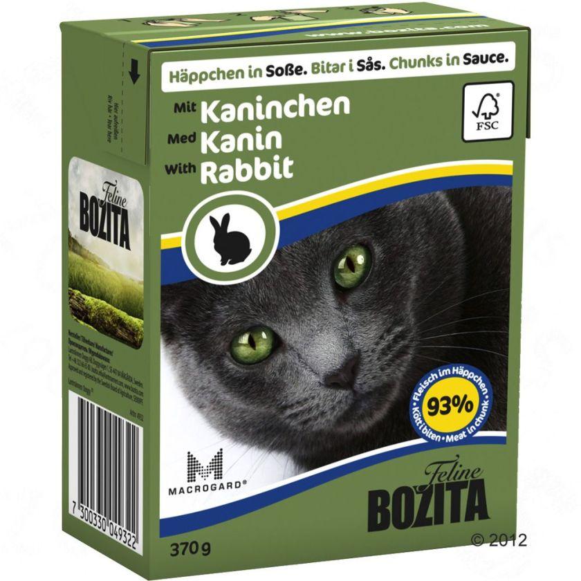 6x370g Bouchées en sauce bœuf Bozita - Nourriture pour Chat