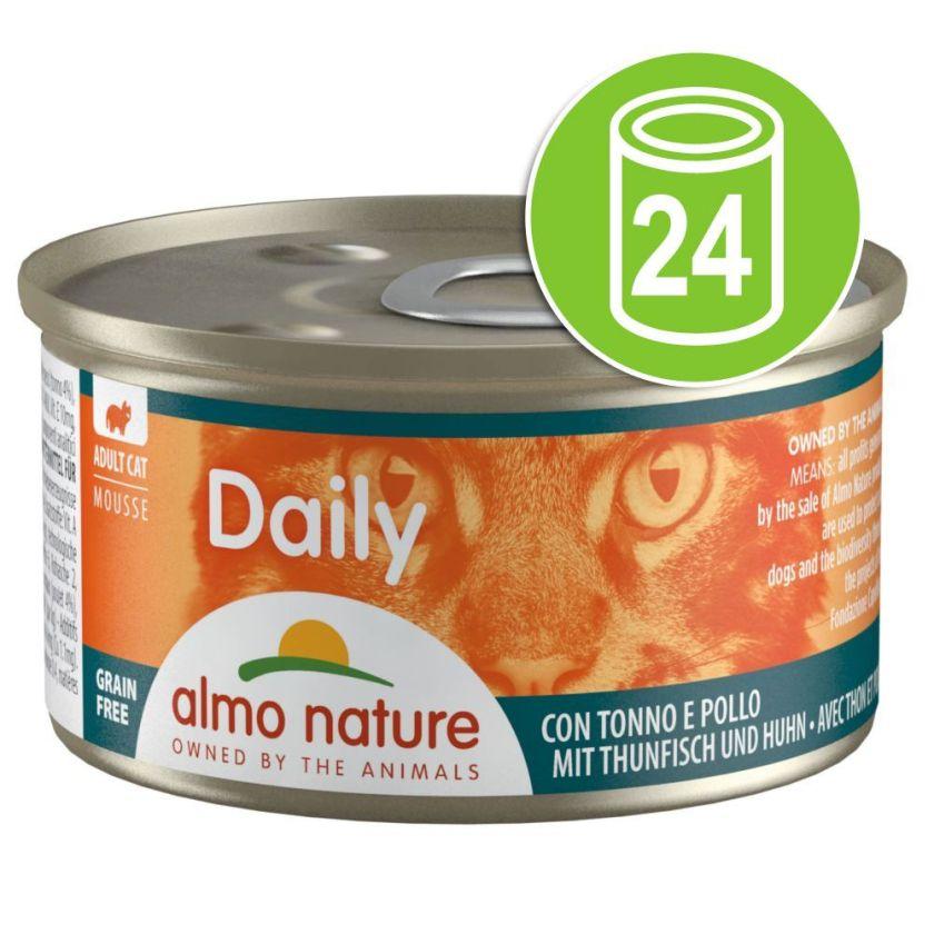 24x85g mousse à la dinde Almo Nature Daily Menu - Nourriture pour Chat