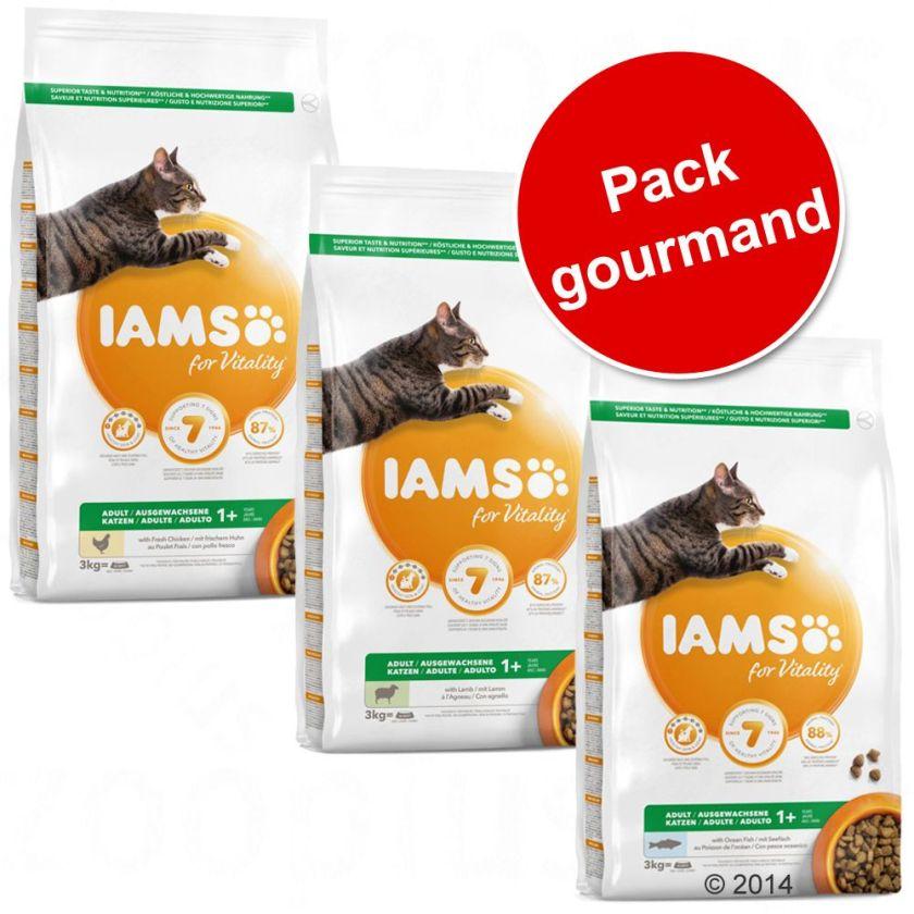Pack gourmand IAMS pour chat, 3 saveurs - pack gourmand, 3 saveurs
