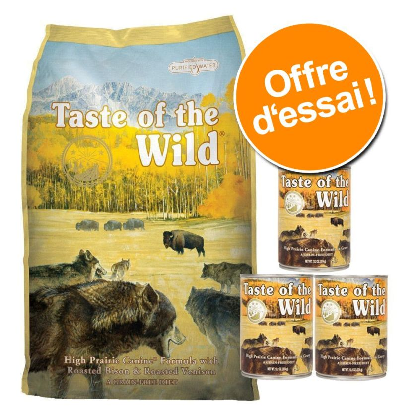 Pack gourmand : croquettes + boîtes Taste of the Wild - Pacific Stream Canine