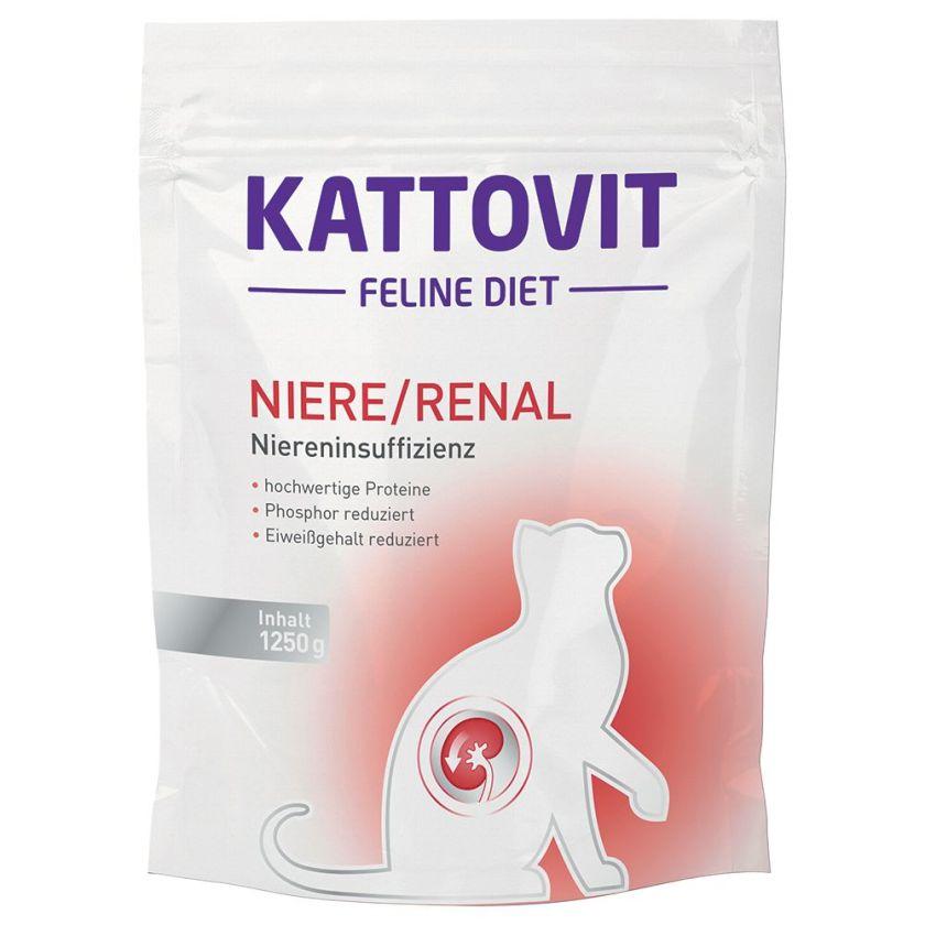 1,25kg Renal spécial reins Kattovit - Croquettes pour Chat