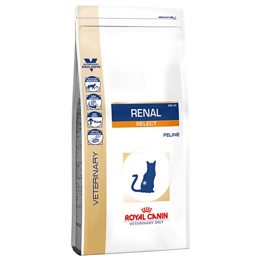 2x4kg Renal Select RSE24 Royal Canin Veterinary Diet pour chat