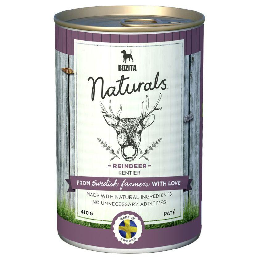 Bozita Naturals Paté 6 x 410 g pour chien - bœuf