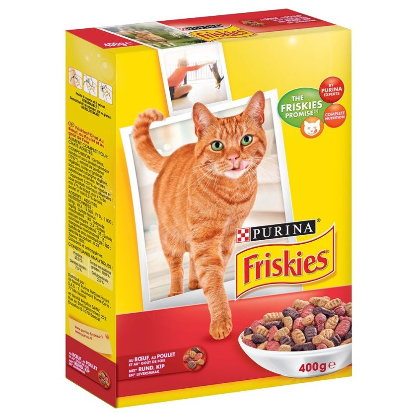 Friskies bœuf, poulet, foie pour chat - 400 gChat / Croquettes / Friskies / Chat adulte