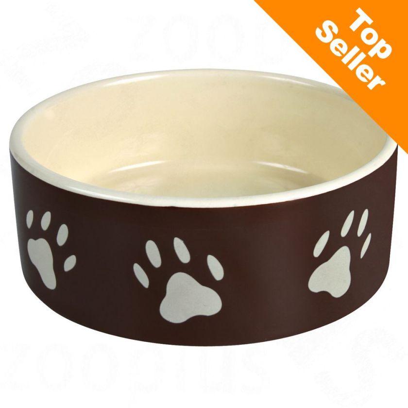 2x Gamelle céramique 12cm diam. 0,3L marron Trixie pour chien et chat - Gamelle pour Chien