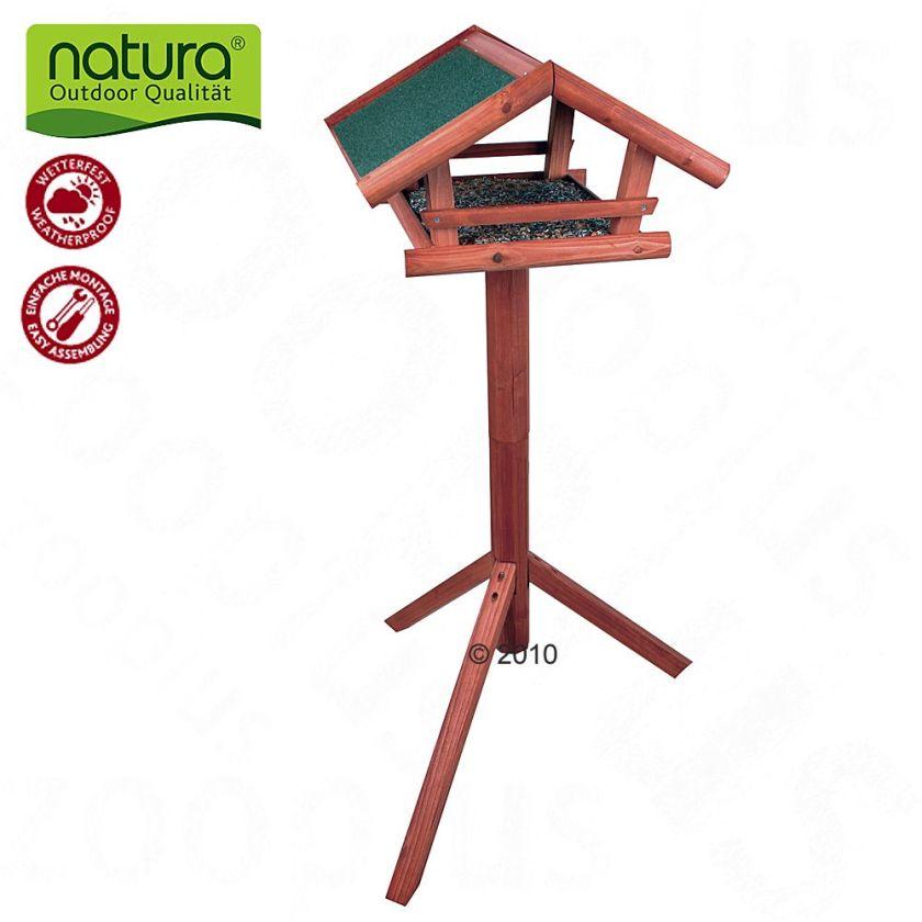 Mangeoire extérieure sur pied pour oiseaux Natura - L 46 x l 22 x H 44 cm