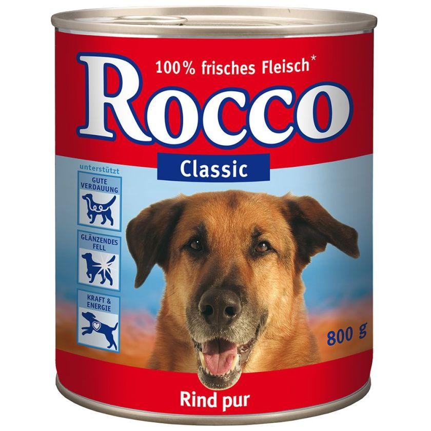 Rocco Classic 6 x 800 g pour chien - bœuf, renne