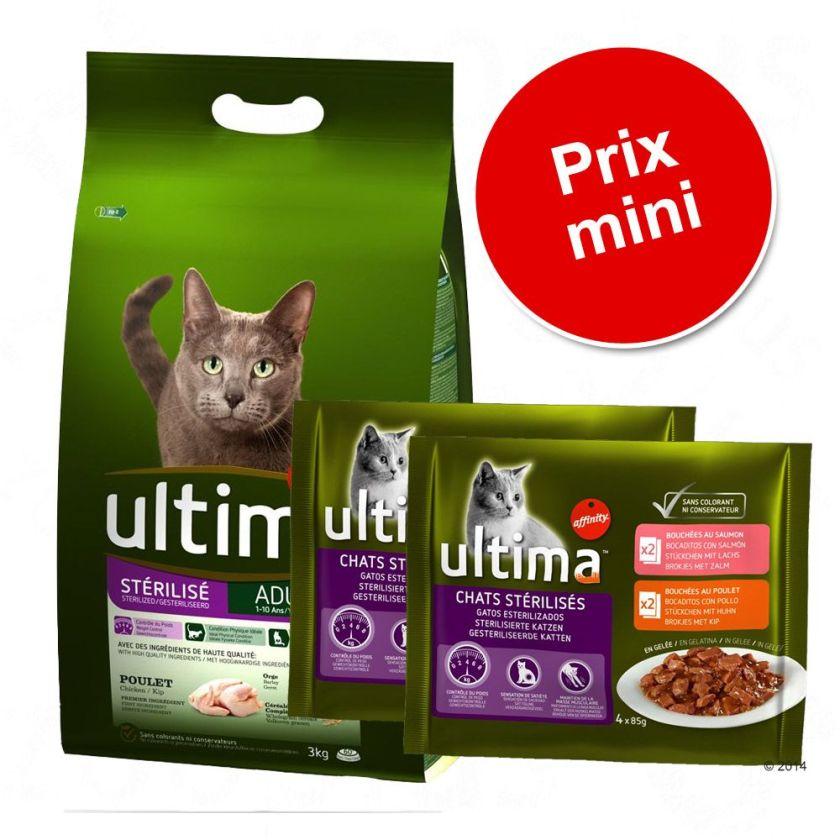 Lot mixte Ultima Sélection chat stérilisé - poulet - sélection chat stérilisé - poulet