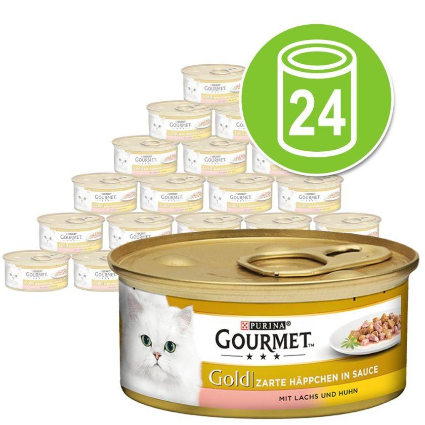 24x85g Les Noisettes veau, légumes Gourmet - Nourriture pour Chat
