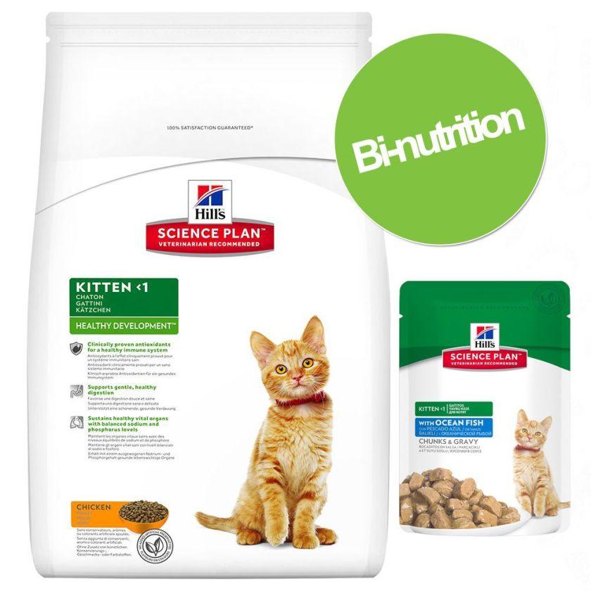 5kg de croquettes et 6 sachets Hill's Science Plan Feline Kitten bi-nutrition Hill's Kitten :