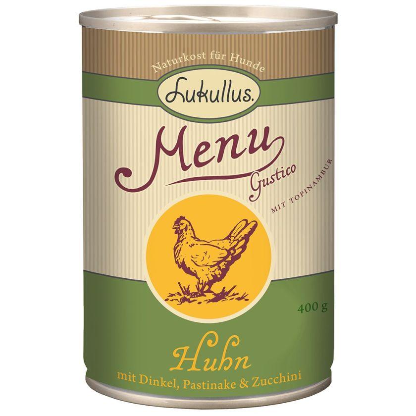 Lukullus Menu Gustico poulet, épeautre, panais, courgettes - 6 x 800 g