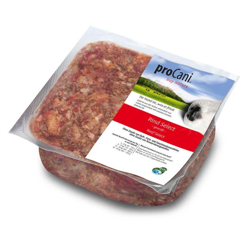 20x400g Mélange BARF Bœuf Select + 10% de fruits & légumes proCani