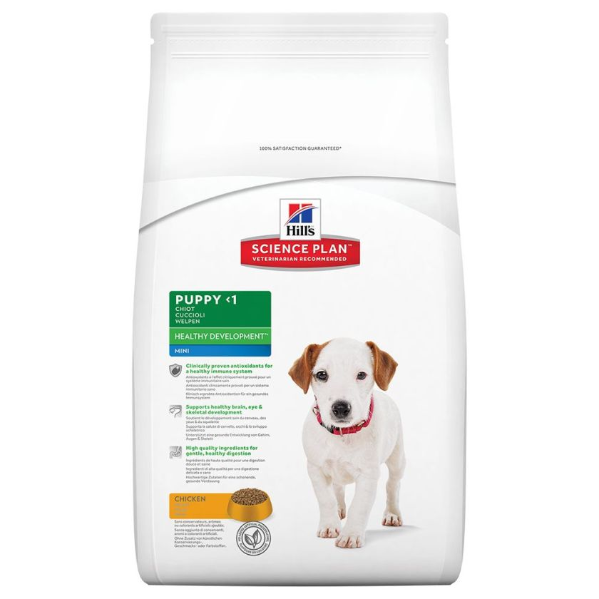7,5kg Puppy Healthy Development Mini poulet pour chiot Hill's Science Plan
