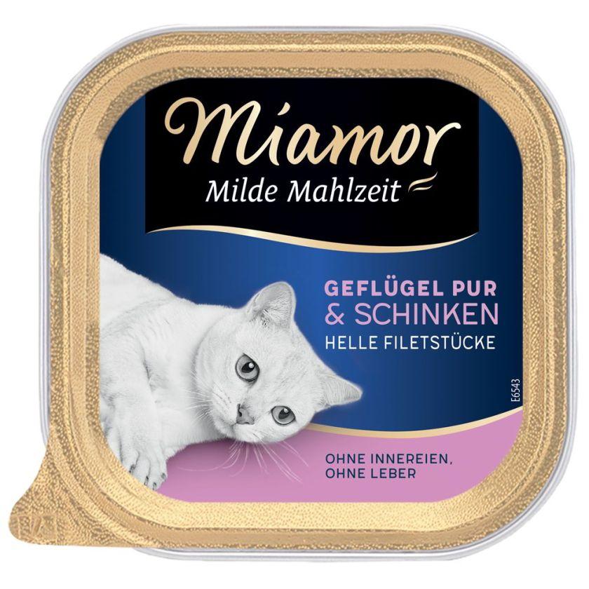 6x100g Senior Milde Mahlzeit gibier, volaille pure Miamor - Nourriture pour Chat