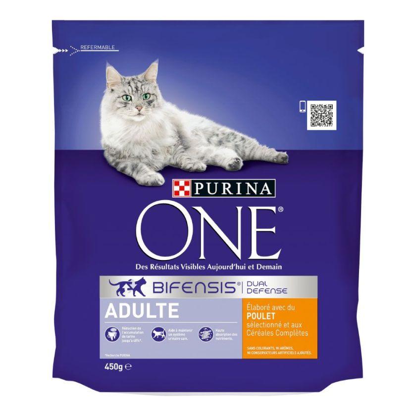 3kg Adulte poulet céréales complètes PURINA ONE - - Croquettes pour chat