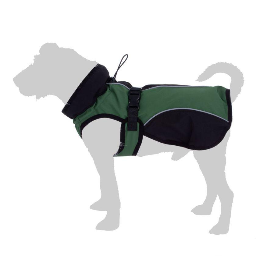 Manteau en softshell pour chien - longueur du dos : 35 cm environ - vert