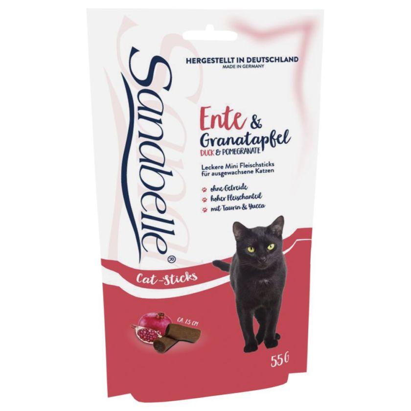 Sanabelle Mini-bâtonnets sans céréales pour chat - colin, figue (3 x 55 g)