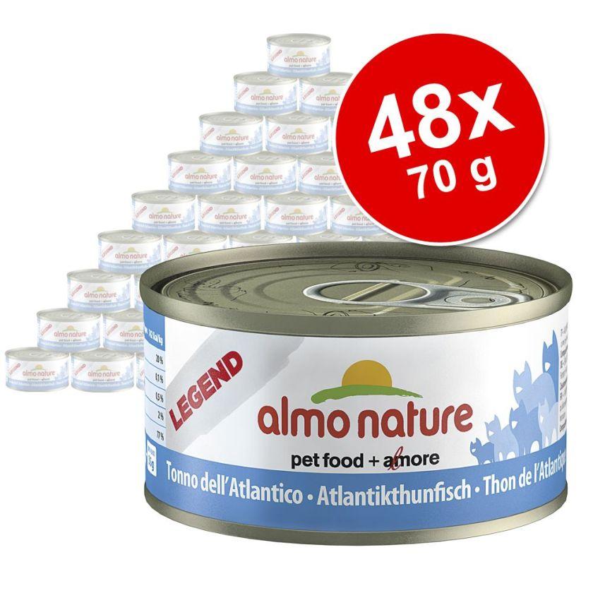 Lot Almo Nature Legend 48 x 70 g pour chat - Legend thon, calamar