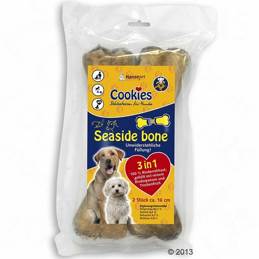 Cookie´s Seaside Bone, os à mâcher pour chien - 6 x 2 os de 16 cm