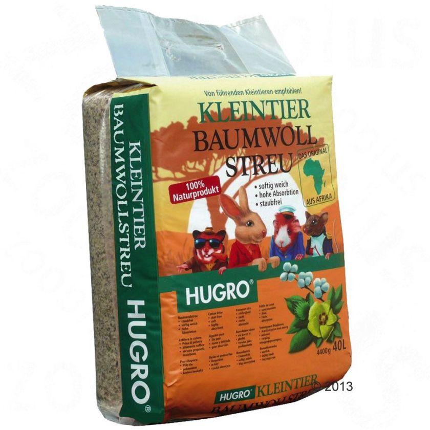 Litière de coton Hugro pour rongeur - 40 L