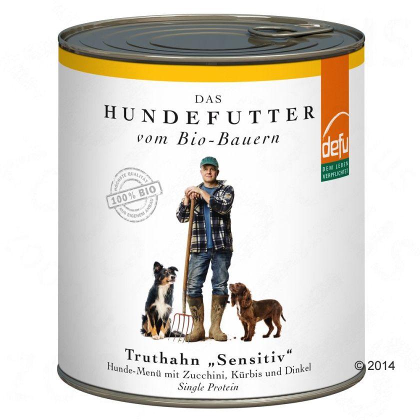 6x820g Sensitive dinde Defu Bio - Nourriture pour chien