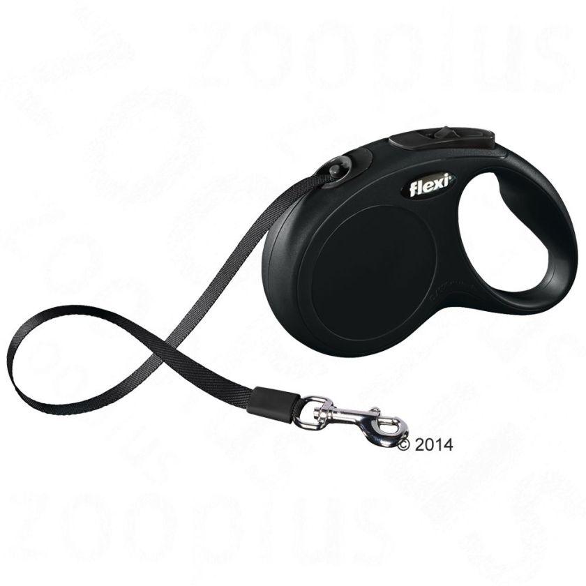 Laisse-sangle flexi New Classic M/L (5 m), noir pour chien - lampe LED Lighting System