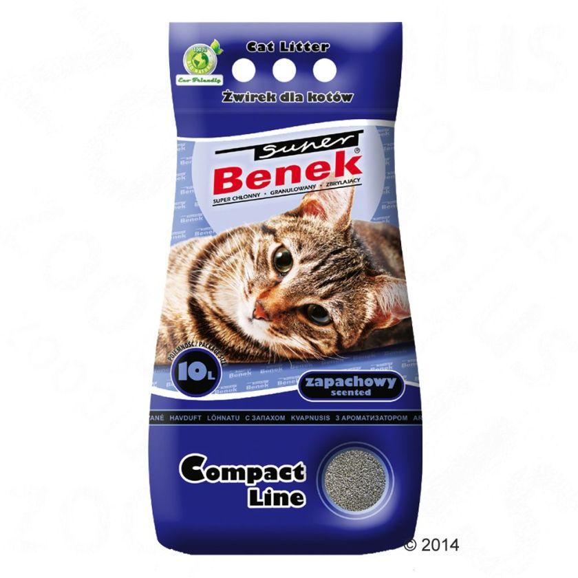 Litière Super Benek Compact parfumée pour chat - 25 L