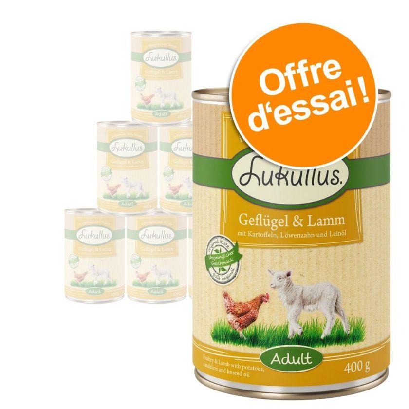 6x400g 6 saveurs Lukullus - Aliment pour Chien