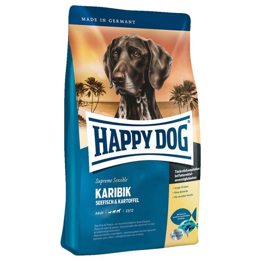 12,5kg Sensible Caraibes Happy Dog Supreme Croquettes pour chien