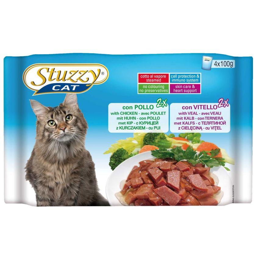 Stuzzy Cat 4 x 100 g pour chat - poulet, veau