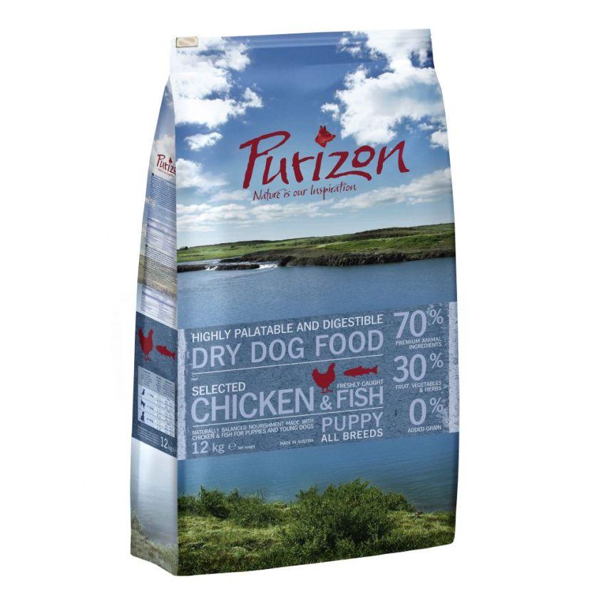 2x12kg Puppy poulet poisson sans céréales Purizon - Croquettes pour chiot