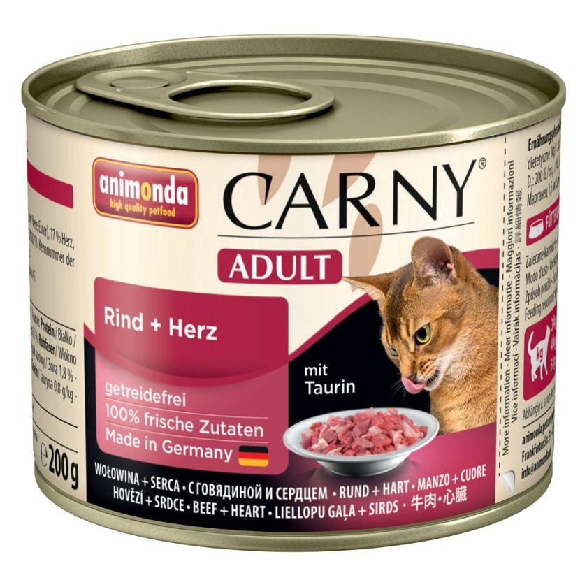 6x200g Adult chevreuil, airelles Animonda Carny - Nourriture pour Chat