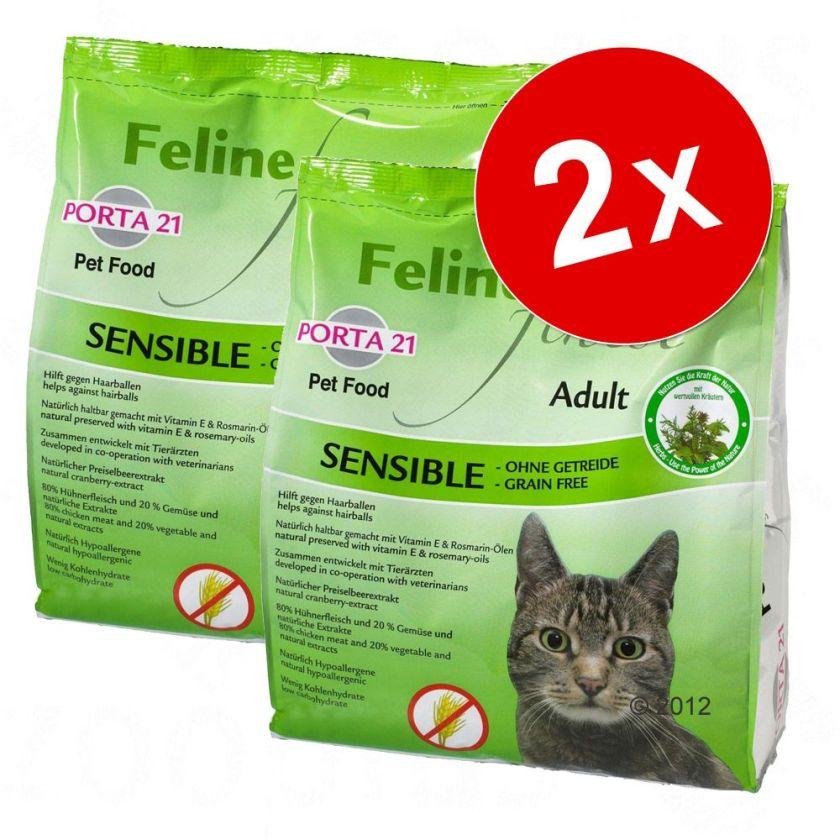 2x10kg Finest Cats Heaven Porta 21 Feline