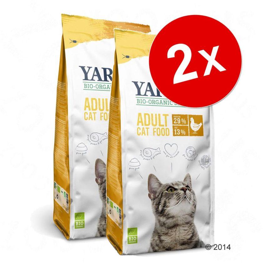 2x10kg poulet, poisson Yarrah bio sans céréales pour chat - Croquettes pour chat