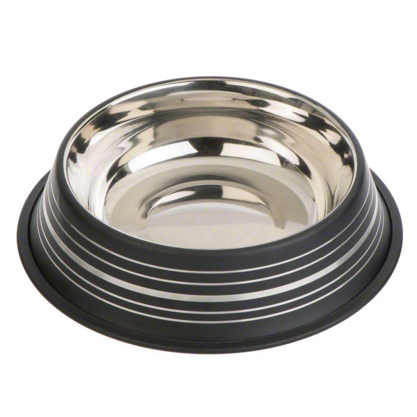 2x Gamelle Silver Line noir mat capacité 450mL, 20cm de diamètre - Gamelle pour chat