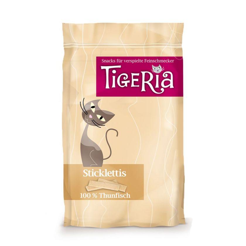 Bâtonnets à mâcher Tigeria Sticklettis, thon - lot % : 3 x 50 g