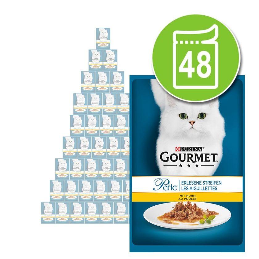 48x85g Les aiguillettes de lapin Gourmet - Nourriture pour Chat