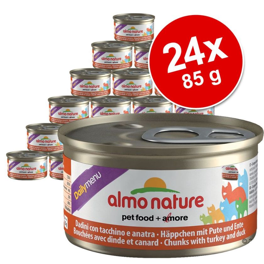Lot Almo Nature Daily Menu 24 x 85 g pour chat - mousse au lapin